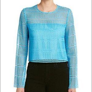 Diane Von Furstenberg Yeva Blue Top
